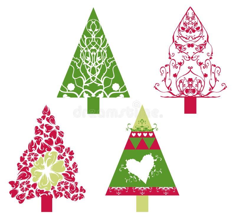 Vetor das árvores de Natal ilustração do vetor