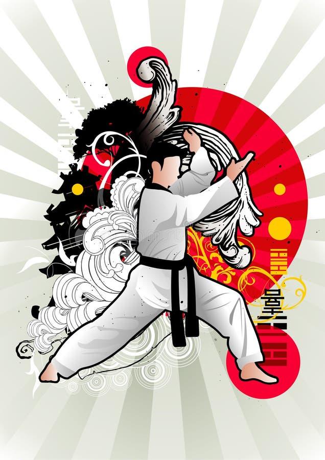 Vetor das artes marciais ilustração royalty free