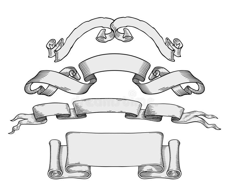 Vetor das bandeiras ilustração royalty free