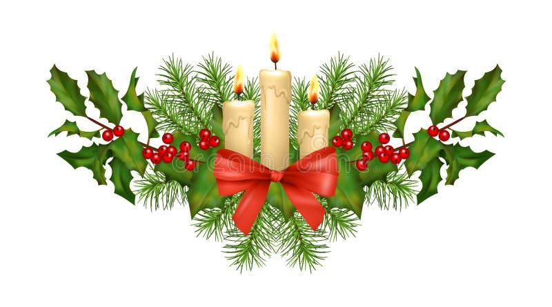 Vetor das decorações do Natal ilustração royalty free