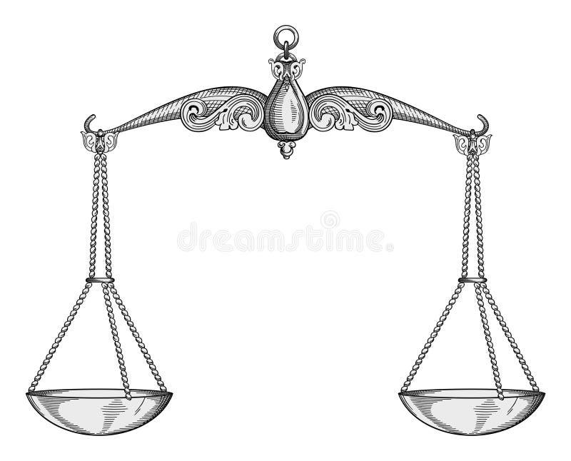 Vetor das escalas ilustração stock