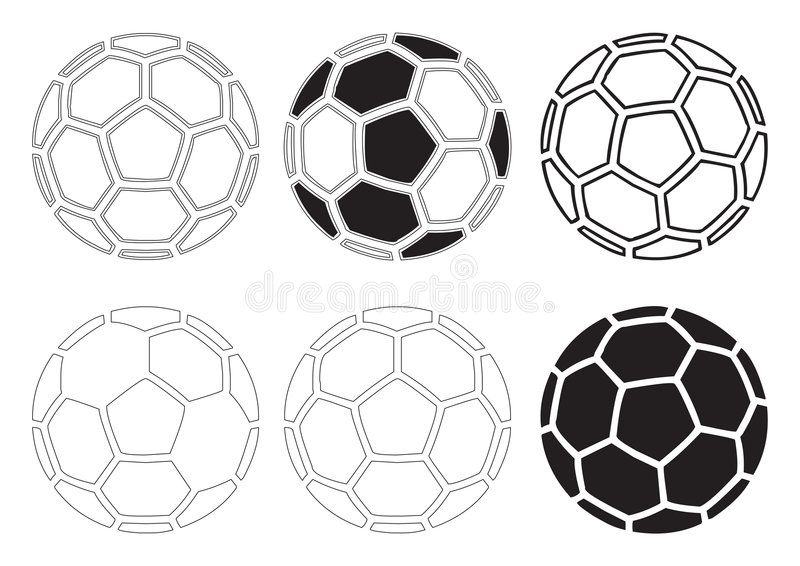 Vetor das esferas de futebol ilustração stock