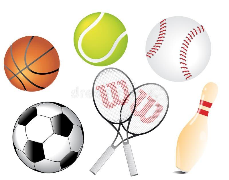 Vetor das esferas dos esportes ilustração royalty free