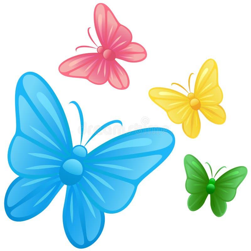 Vetor das ilustrações da borboleta ilustração stock