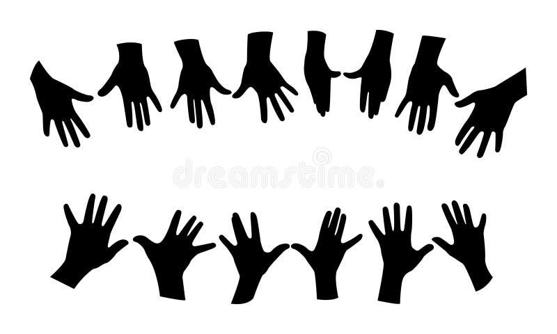 Vetor das mãos ilustração royalty free