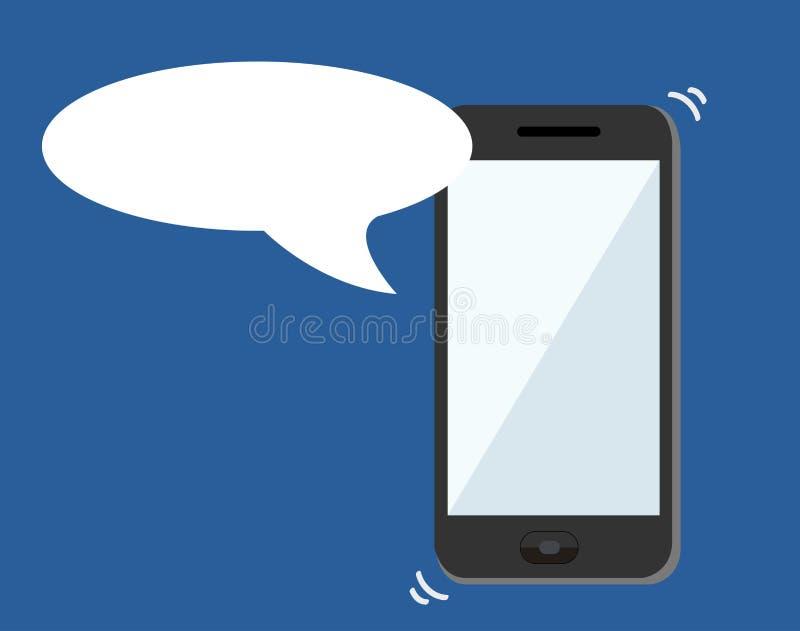 Vetor das notificações do smartphone do símbolo do bate-papo ilustração royalty free