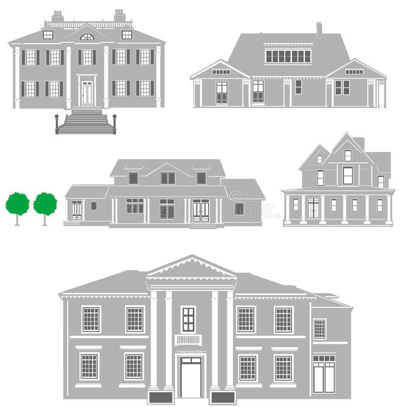 Vetor das residências ilustração royalty free