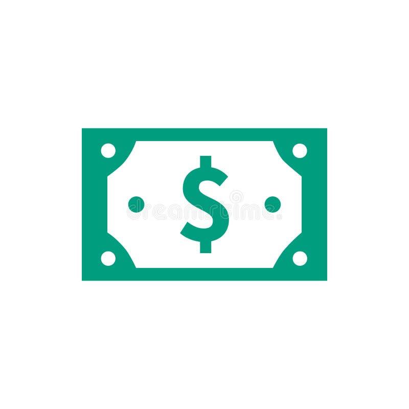 Vetor de ícone da moeda em dinheiro ilustração do vetor
