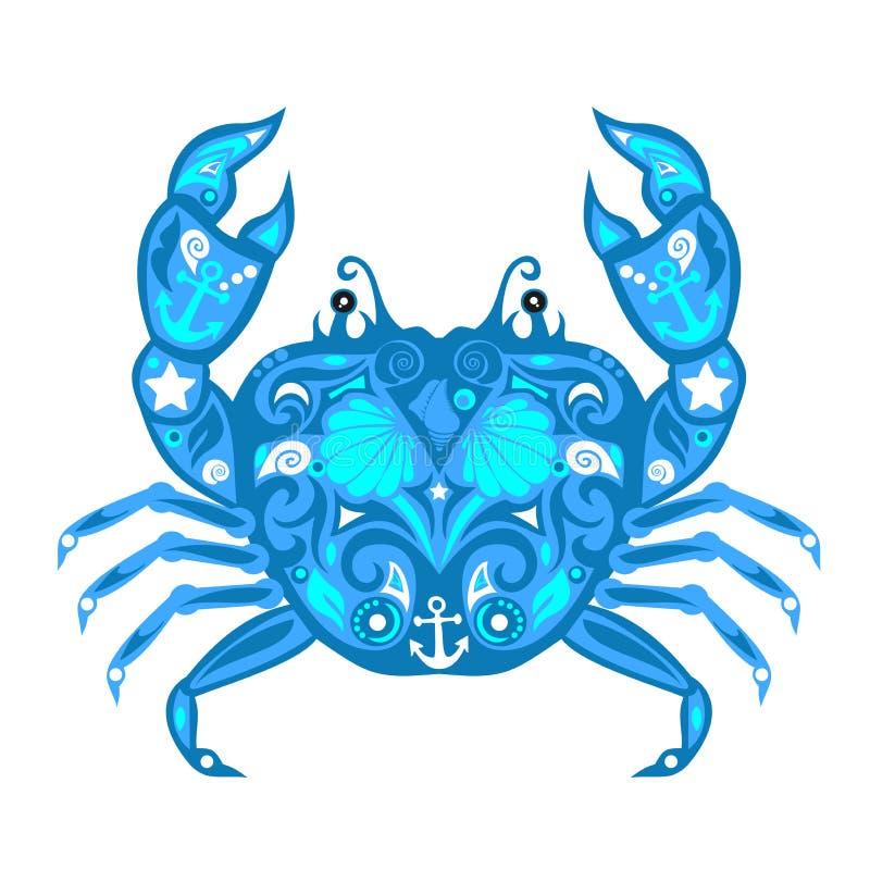 Vetor de ÑŒcrab do 'do ‡ Ð°Ñ de ПÐ?Ñ, mar animal, projeto crustáceo, fotografia de stock