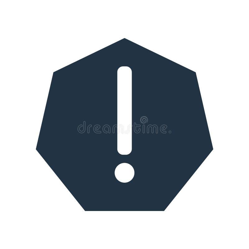 Vetor de advertência do ícone isolado no fundo branco, sinal de aviso ilustração royalty free