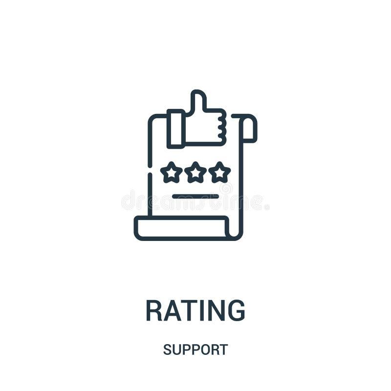vetor de avaliação do ícone da coleção do apoio Linha fina ilustração do vetor do ícone do esboço da avaliação Símbolo linear par ilustração do vetor