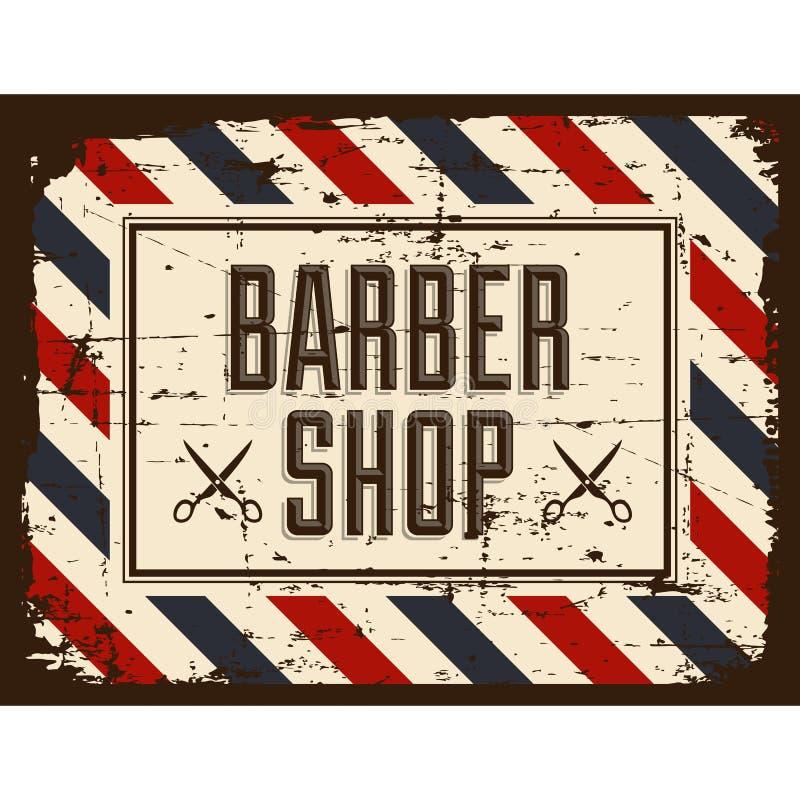 Vetor de Barber Shop Sign Signage do barbeiro ilustração stock