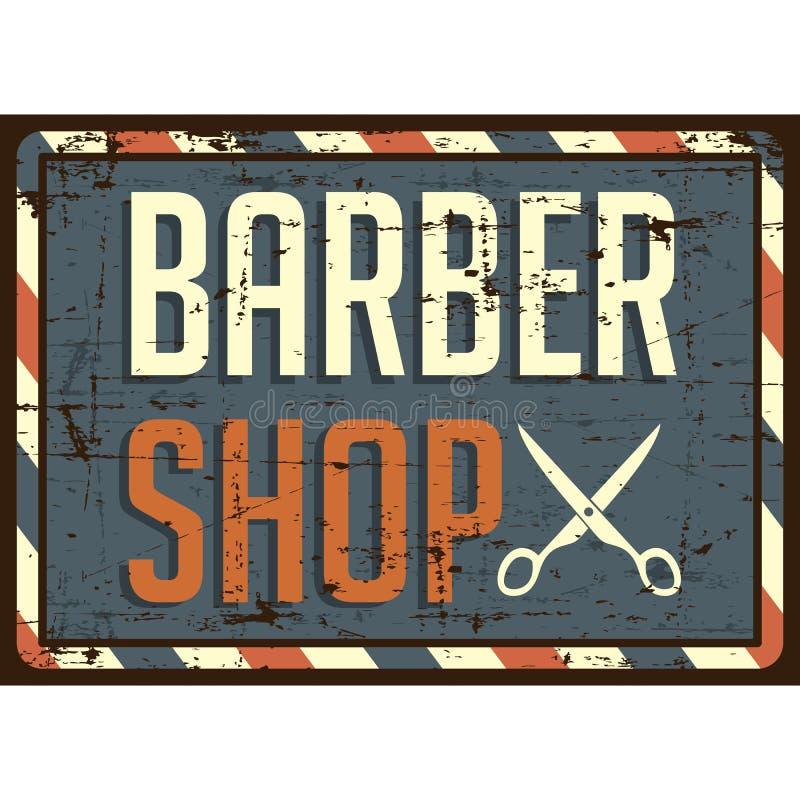 Vetor de Barber Shop Sign Signage do barbeiro ilustração royalty free