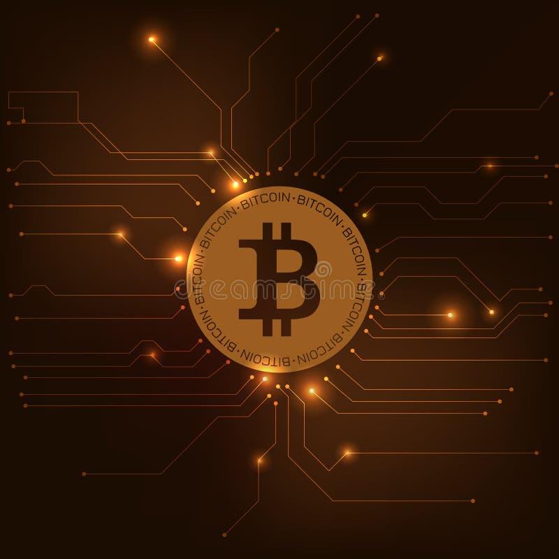 Vetor de Bitcoin ilustração stock