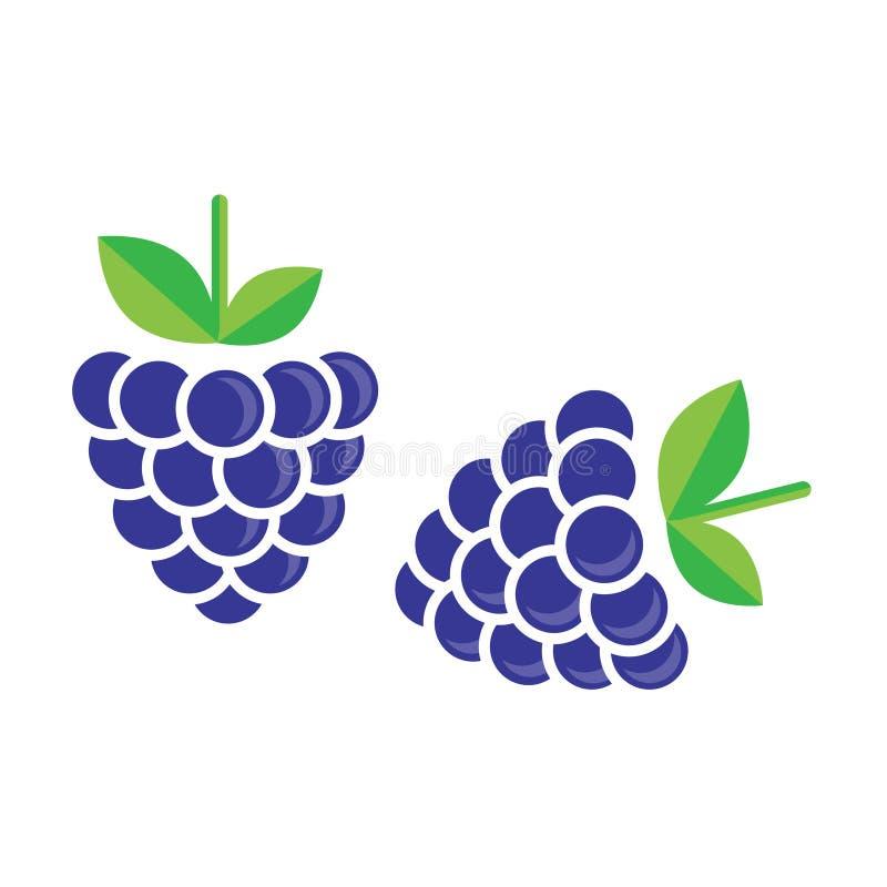 Vetor de Blackberry ilustração stock