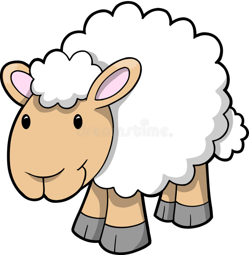 Vetor de carneiros felizes
