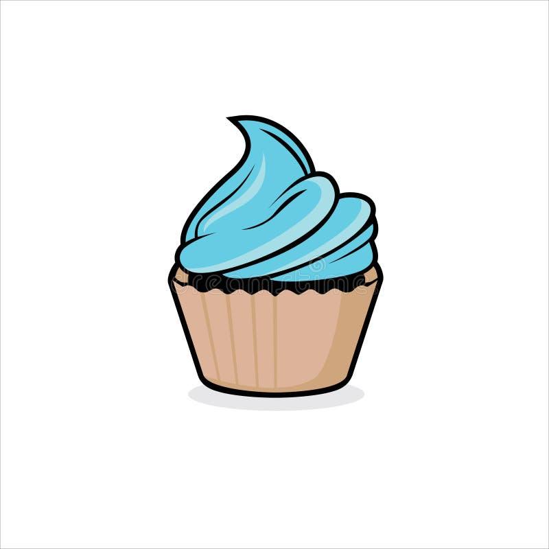 Vetor de cartografia de Cupcake ilustração stock