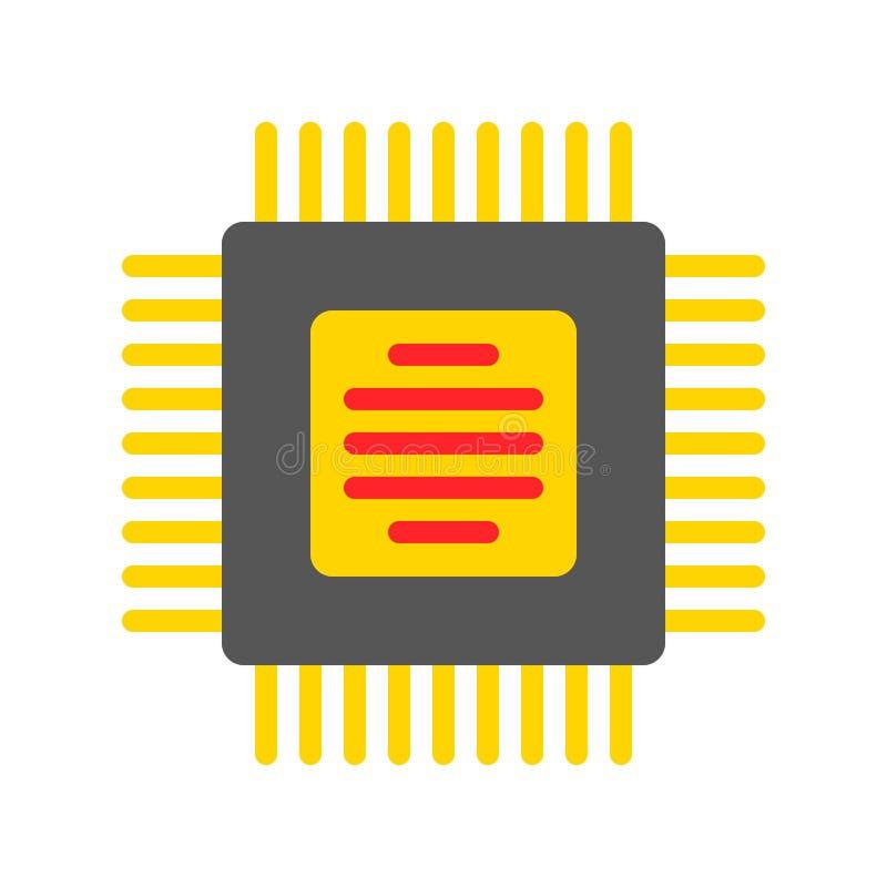 Vetor de circuito integrado, ícone de estilo plano de dispositivo eletrônico ilustração royalty free