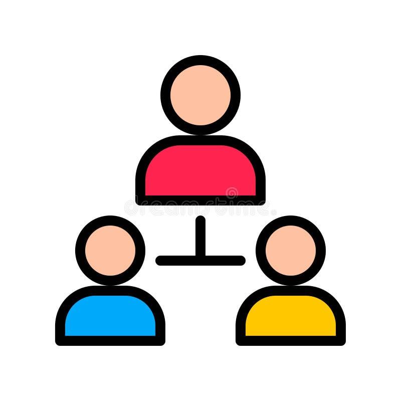 Vetor de conexão do usuário, Ícone de traçado editável preenchido pela mídia social ilustração do vetor
