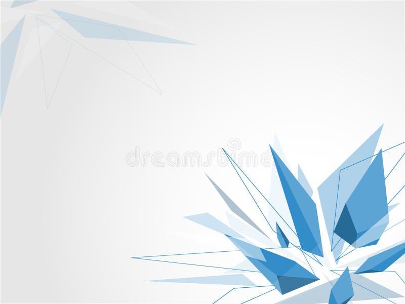 Vetor de cristal azul do fundo ilustração royalty free
