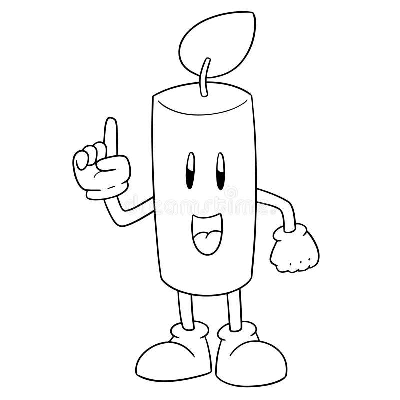 Vetor de desenhos animados da vela ilustração stock