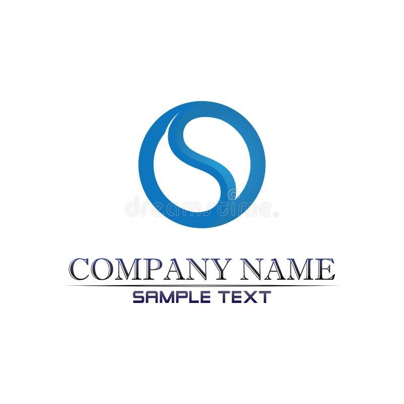 Vetor de design de logotipo da letra de empresa S ilustração royalty free
