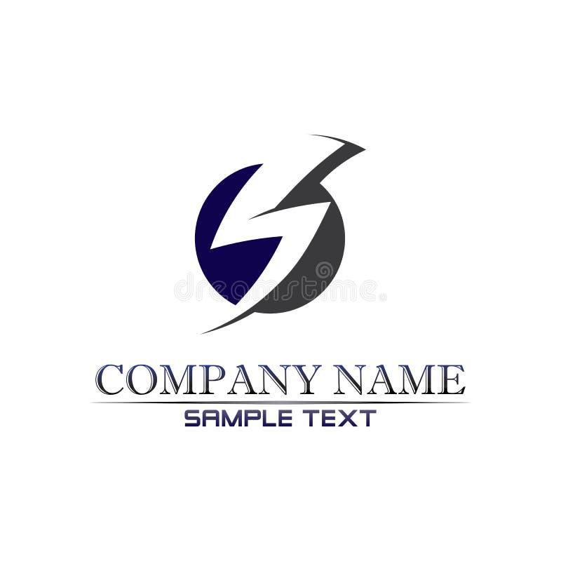Vetor de design de logotipo da letra de empresa S ilustração stock