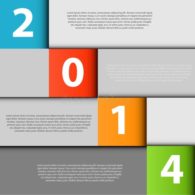 Vetor de 2014 elementos do projeto de INFOGRAPHICS ilustração stock