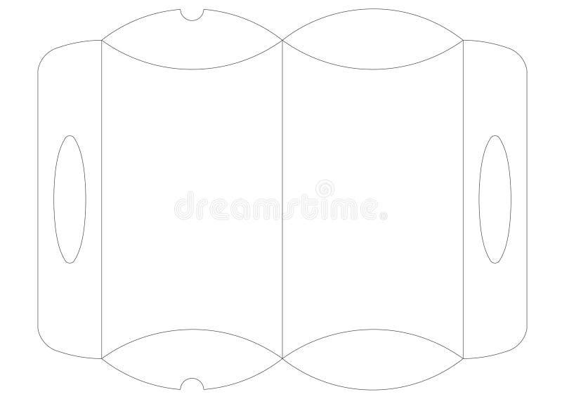 Vetor de empacotamento do caso do molde ilustração royalty free