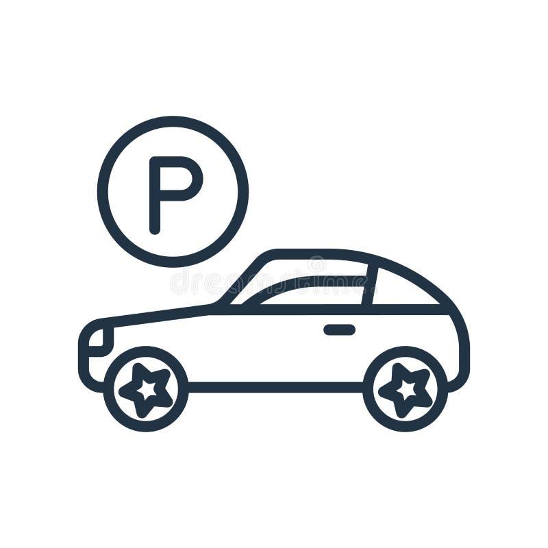 Vetor de estacionamento do ícone isolado no fundo branco, sinal de estacionamento ilustração stock