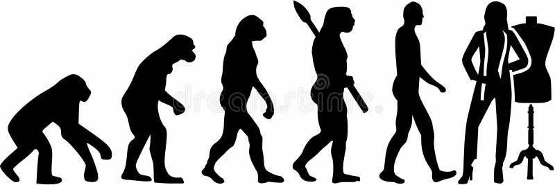 Vetor de Evolution do alfaiate ilustração royalty free