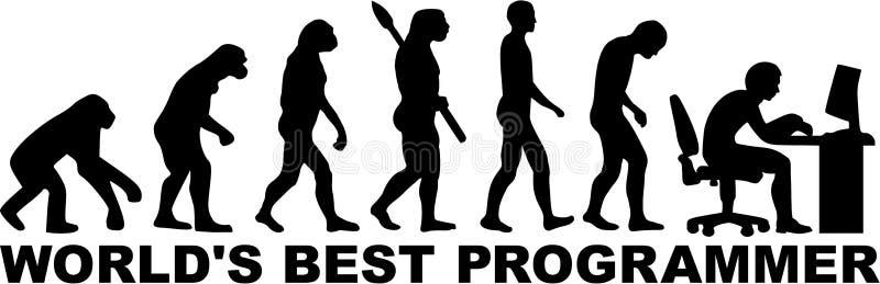 Vetor de Evolution do programador ilustração do vetor