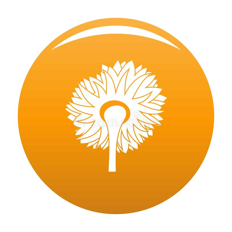 Vetor de giro do ícone do girassol alaranjado ilustração stock