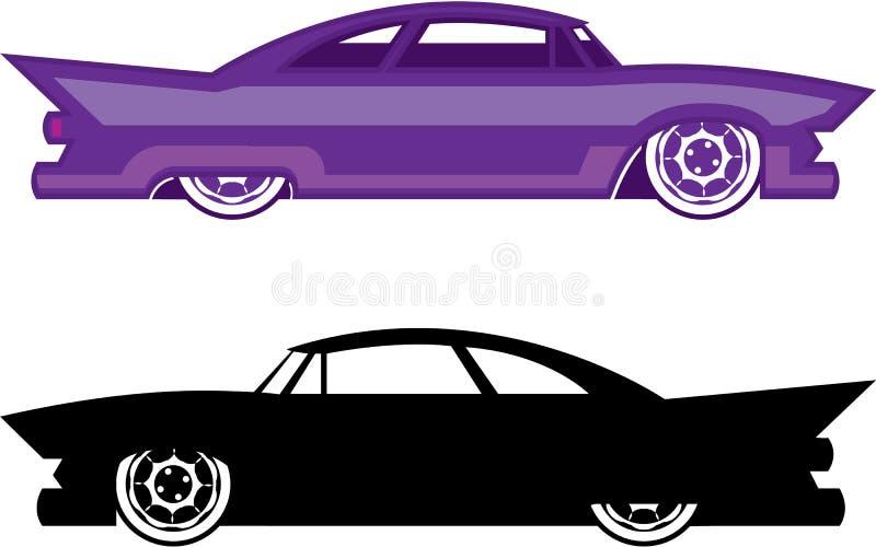 Vetor de Hotrod simplista ilustração royalty free