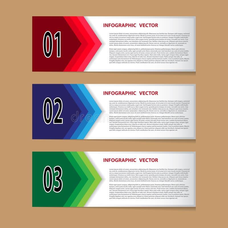 Vetor de Infographic para trabalhos criativos ilustração stock