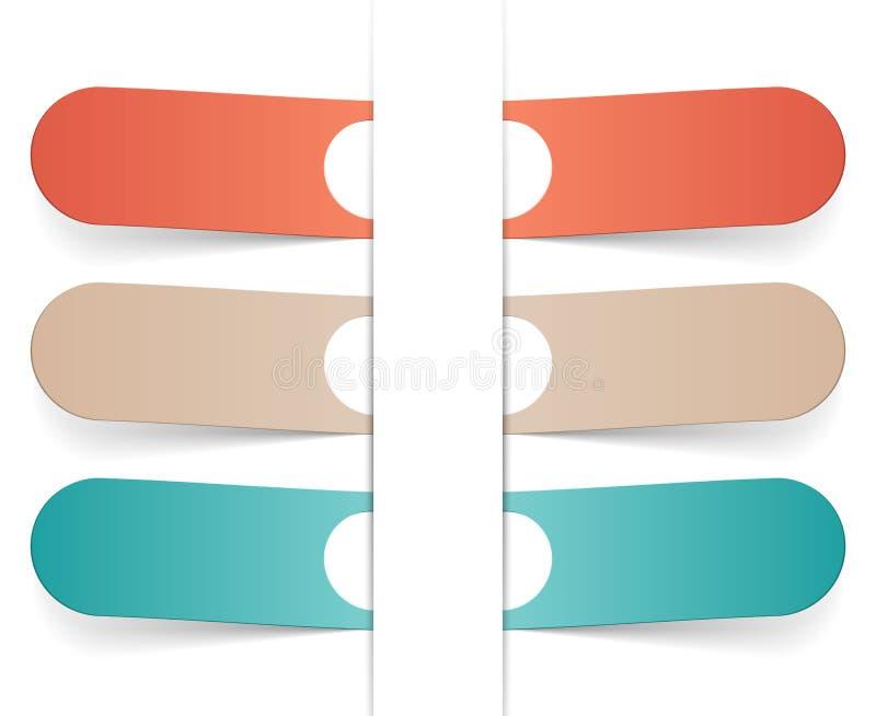 Vetor de Infographic sob a forma das fitas. ilustração do vetor