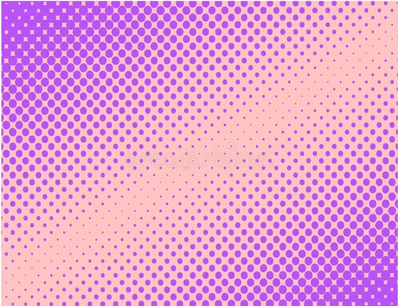 Vetor de intervalo mínimo cômico do fundo do pop art violeta ilustração do vetor