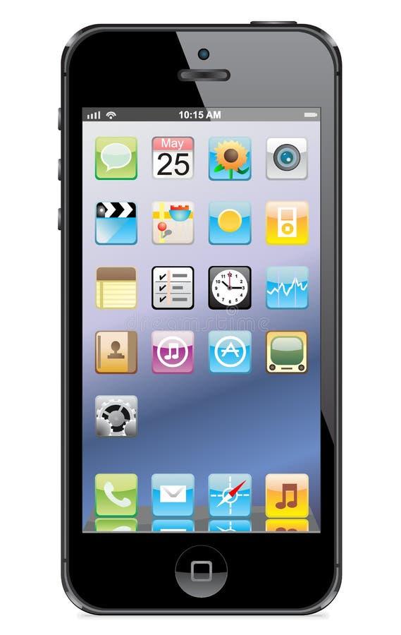 Vetor de Iphone 5 ilustração do vetor