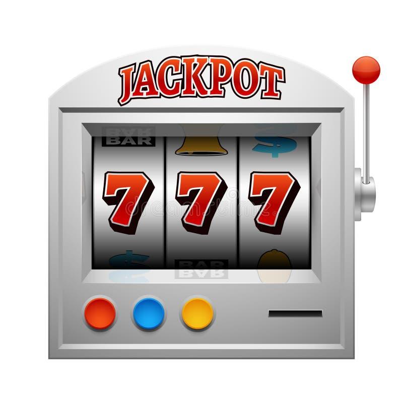 Vetor de jogo da máquina do entalhe do casino afortunado e conceito da vitória ilustração royalty free
