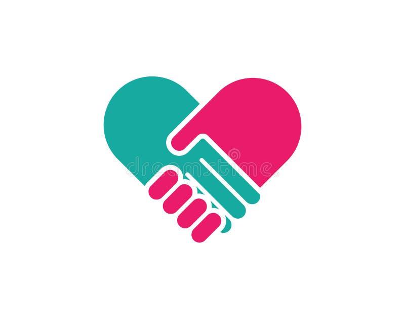 Vetor de Logo Template do cuidado da mão ilustração stock