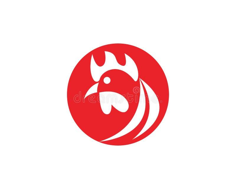 Vetor de Logo Template do galo ilustração stock