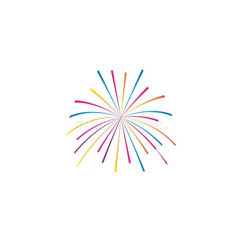 vetor de logotipo do fireworks ilustração stock