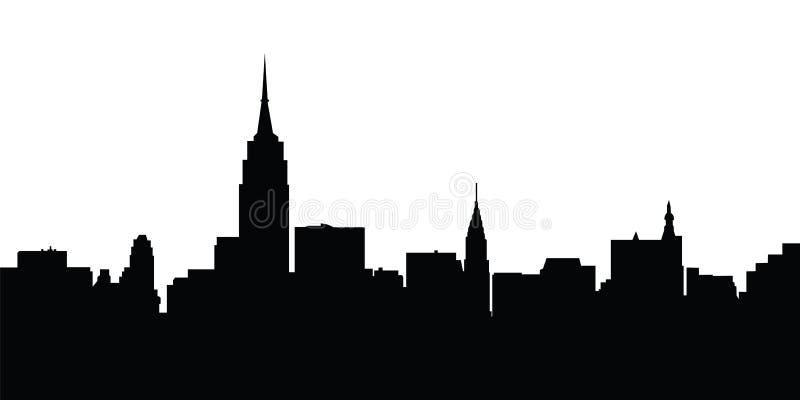 Vetor de New York da skyline da cidade ilustração stock