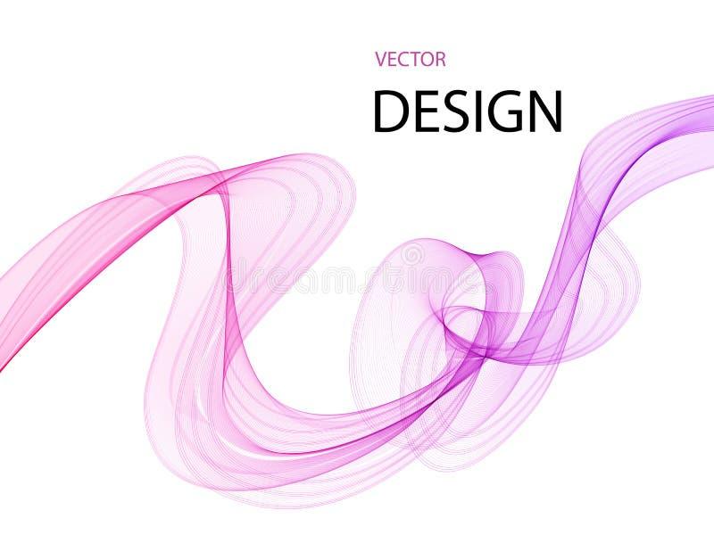 Vetor de onda liso abstrato da cor Ilustra??o do movimento do rosa do fluxo da curva ilustração do vetor