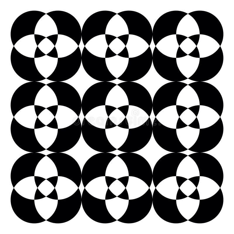 Vetor de padrão caleidoscópico preto-e-branco ou ilustração colorida ilustração do vetor