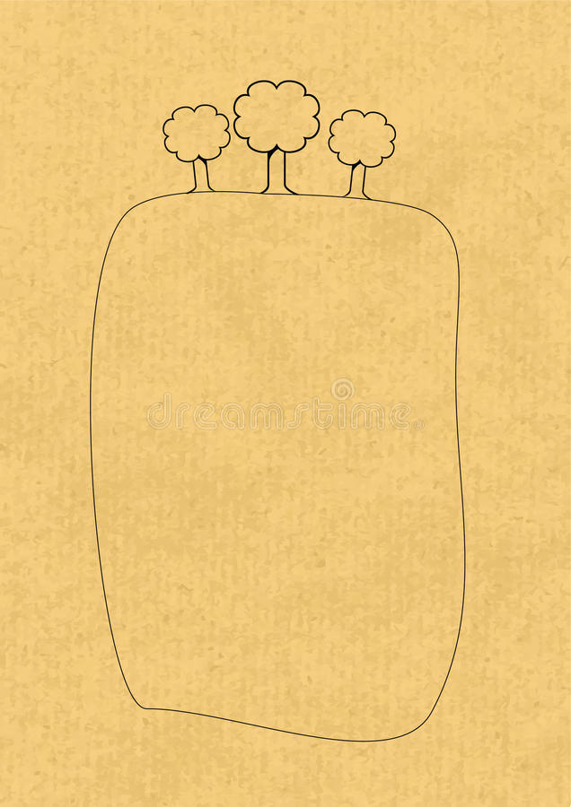 Vetor de papel de Eco ilustração royalty free
