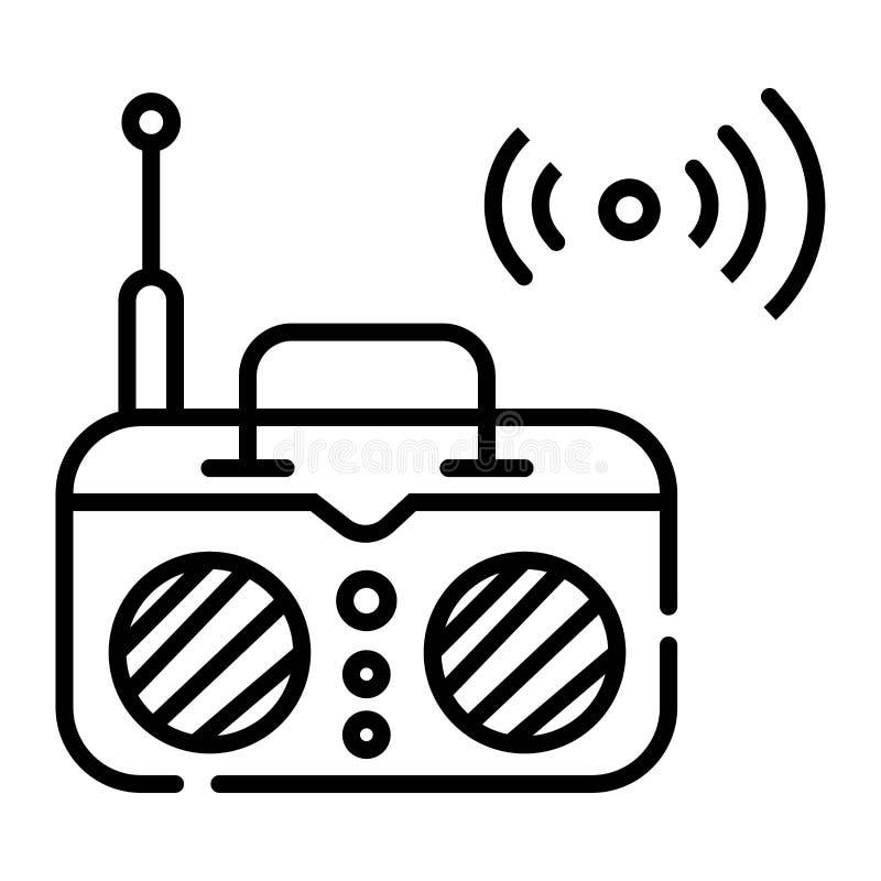 Vetor de rádio do ícone ilustração do vetor