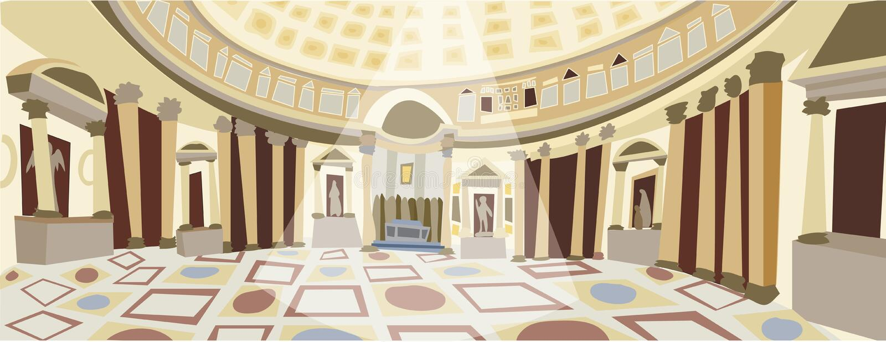 Vetor de Roman Pantheon ilustração do vetor