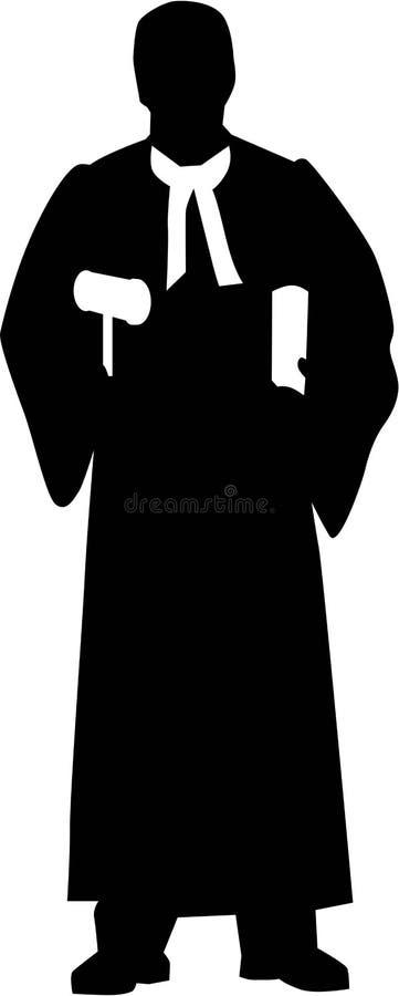 Vetor de Silhouette do juiz ilustração royalty free