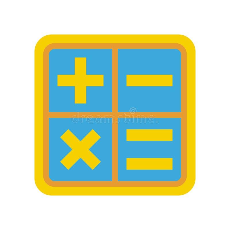 Vetor de sinais de matemática, ícone de estilo de filme de volta à escola ilustração do vetor